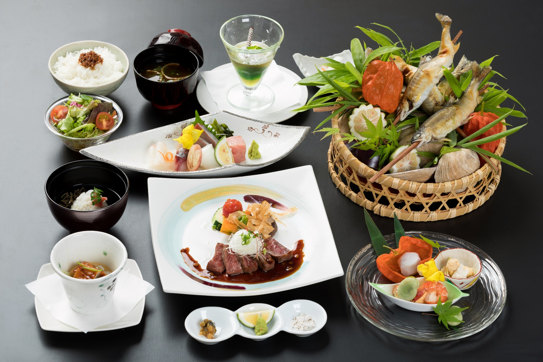 選べる会席5000円「豊後牛ステーキ」の料理写真