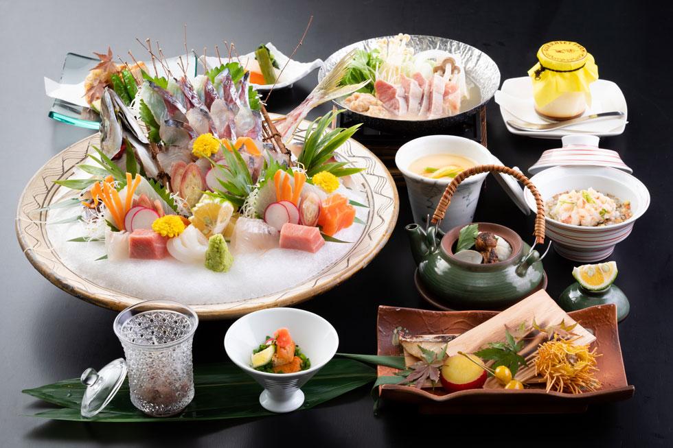 関鯵コースの料理写真